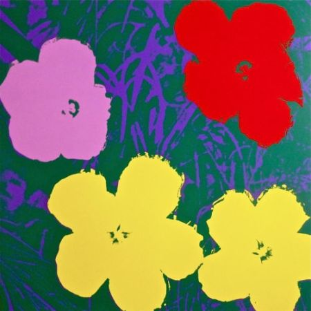 Screenprint Warhol (After) - Flowers IV