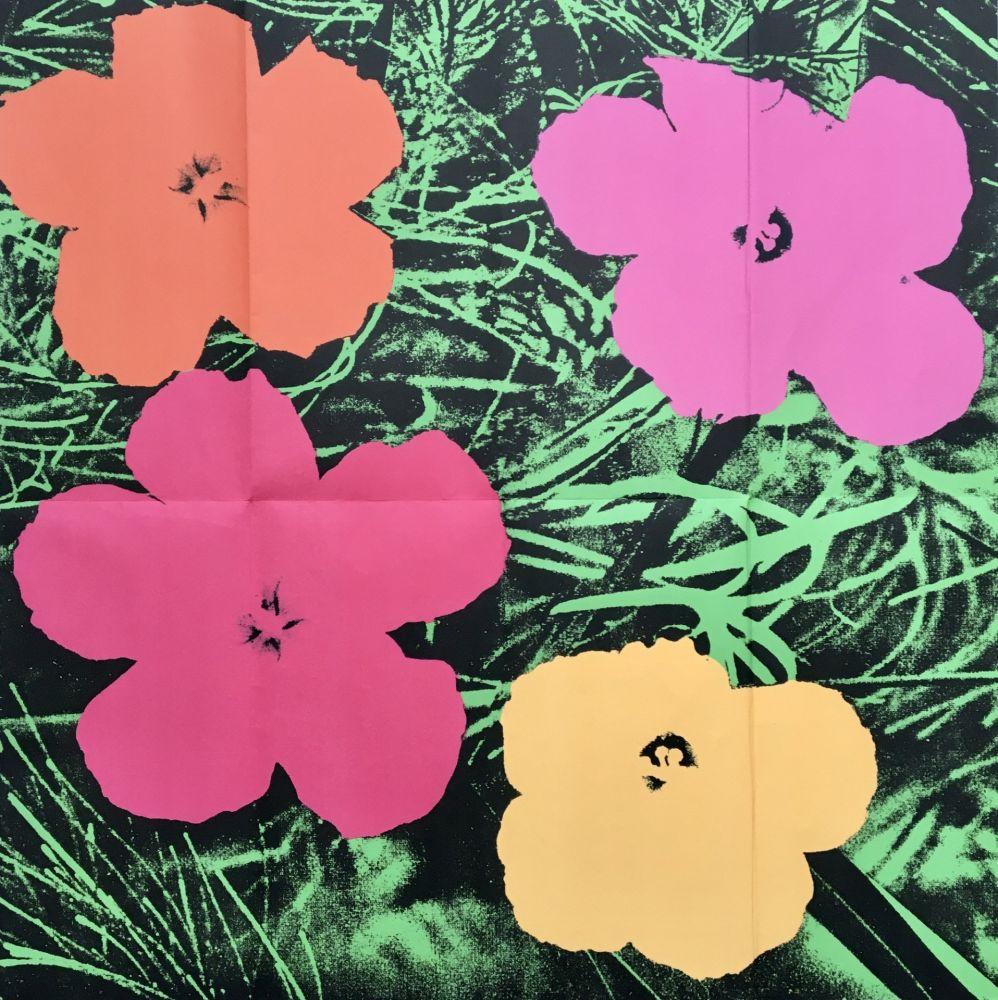 No Technical Warhol - 'Flowers (Leo Castelli Mailer)' 1964 Original Pop Art Poster