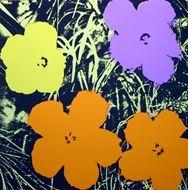 Screenprint Warhol - Flowers orange