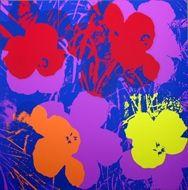 Screenprint Warhol (After) - Flowers orange violin