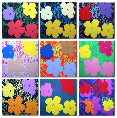 Screenprint Warhol (After) - Flowers Set of 10 (by Sunday B. Morning)