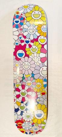 Screenprint Murakami - Flowers Skate Deck