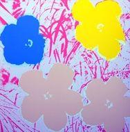 Screenprint Warhol (After) - Flowers white & pink