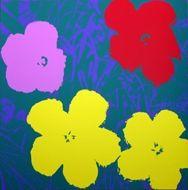 Screenprint Warhol (After) - Flowers yellow