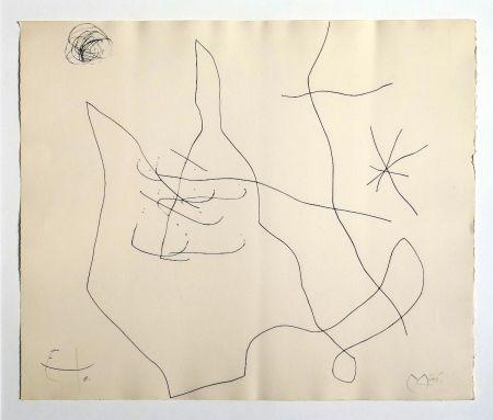 Etching Miró - Flux de l'aimant
