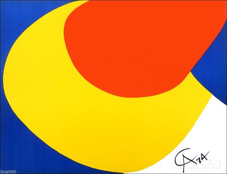 Lithograph Calder - Flying Colors I
