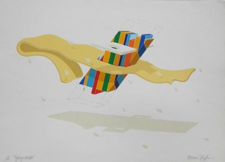 Lithograph Pfeiffer - Flying Noodle