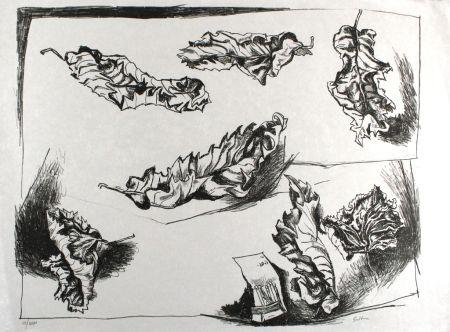 Lithograph Guttuso - Foglie