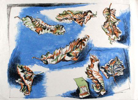 Lithograph Guttuso - Foglie (Leaves)