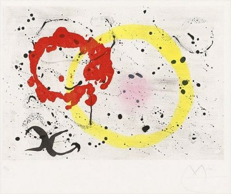 Aquatint Miró - Fond Marin II (Seabed II), 1963