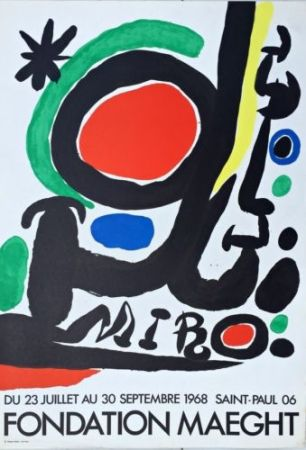 Lithograph Miró - Fondation Maeght