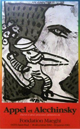 Poster Alechinsky - '' Fondation MAEGHT '' - Avec Karel APPEL