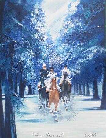Lithograph Spahn - Forêt bleue