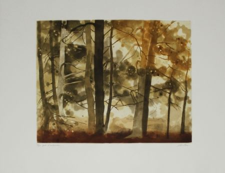 Etching And Aquatint Walker - Forêt d'automne / Autumn Forest