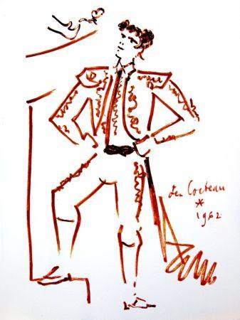 Lithograph Cocteau - Force