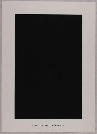 Lithograph Agnetti - Forgotten pages memorised from 'Spazio perduto e spazio costruito' portfolio, Plate G