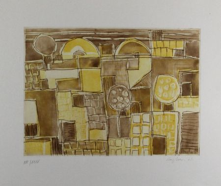 Etching And Aquatint Bargheer - Forio