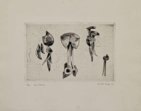 Etching Hadzi - Form Studies