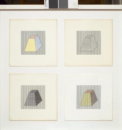 Screenprint Lewitt - Forme dérivée d'un cube