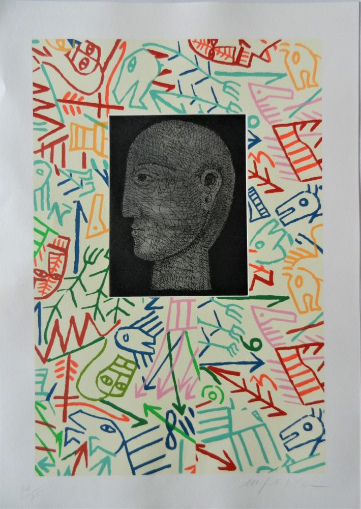 Woodcut Paladino - Forme e figure
