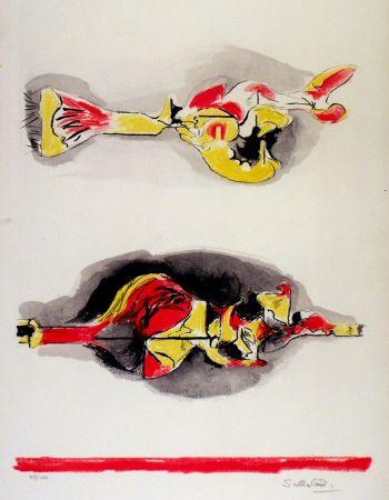 Lithograph Sutherland - Formes volantes et flottantes