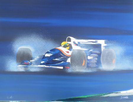 Lithograph Spahn -  Formule I bleue