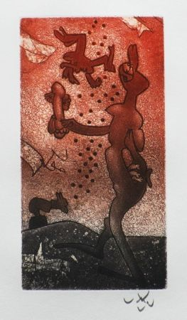 Etching And Aquatint Matta - Fou-rieuse