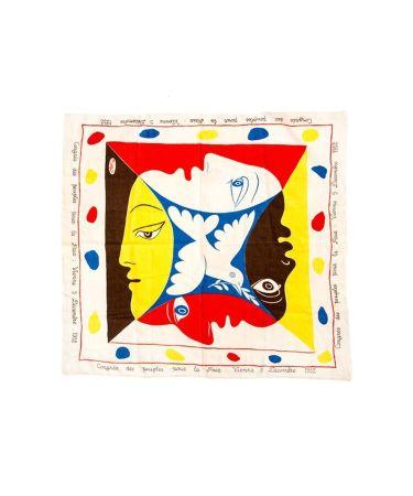 Screenprint Picasso - Foulard Pour Le Festival Mondial De La Jeunesse Et Des Etudiants Pour La Paix, 1951