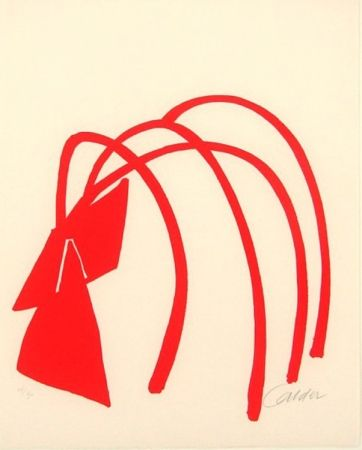 Lithograph Calder - Four Arches