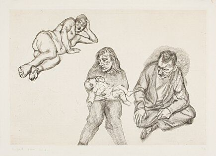 Etching Freud - Four Figures (Vier Figuren)