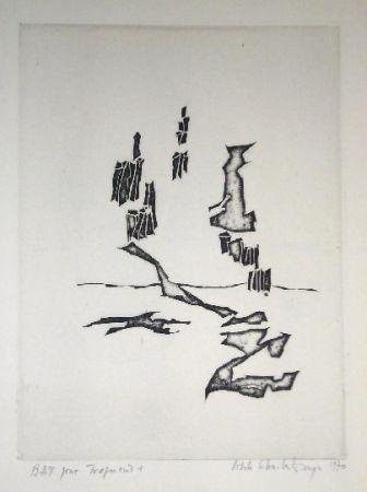 Etching Celan Lestrange - Fragment 1 -pl1