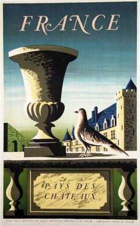 Lithograph Picard Ledoux - France Pays de Chateaux