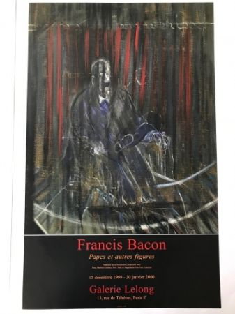 Poster Bacon - Francis Bacon - Galerie Lelong Exhibition Poster - Screaming Pope