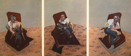 Lithograph Bacon - Francis Bacon - Portrait Of Lucien Freud 1966
