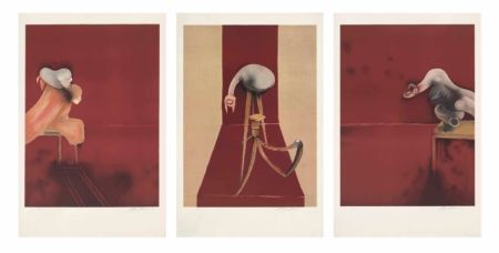 Lithograph Bacon - FRANCIS BACON, SECOND VERSION OF TRIPTYCH