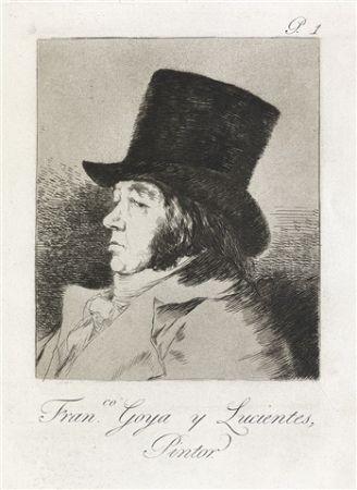 Etching And Aquatint Goya - Francisco Goya y Lucientes, Pintor.  / Self-Portrait of Goya