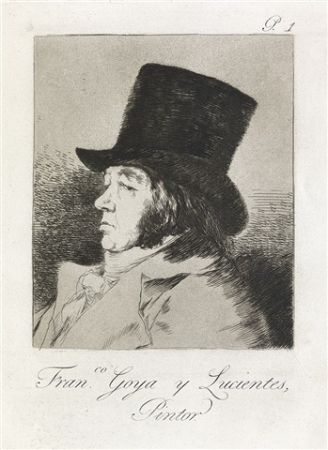 Etching And Aquatint Goya - Francisco Goya y Lucientes, Pintor.  / Self-Portrait of Goya
