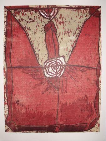 Woodcut Toledo - Francisco Toledo