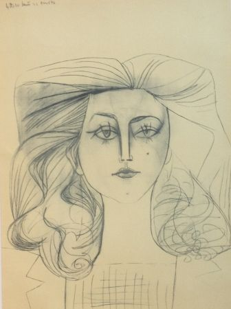 Lithograph Picasso - Francoise Gilot 1