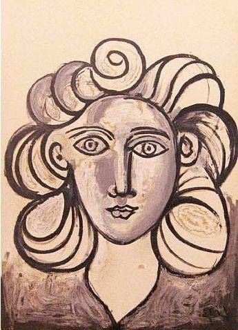 Lithograph Picasso - Francoise Gilot 2
