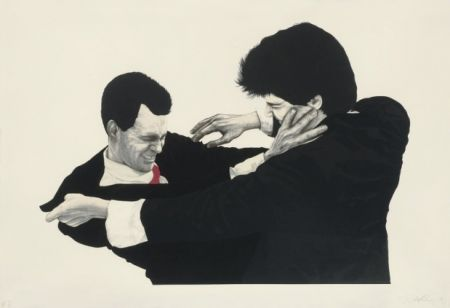 Lithograph Longo - Frank and Glen