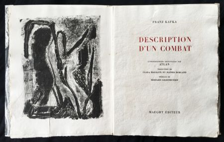 Illustrated Book Atlan - , Franz Kafka. DESCRIPTION D'UN COMBAT. Lithographies originales d'Atlan.