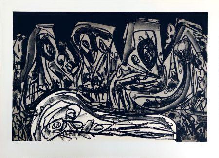 Lithograph Saura - Franz Kafka:  Diaries II
