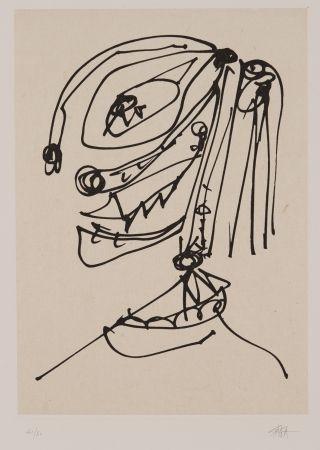 Etching And Aquatint Saura - Frauen portrait mit Hut 4