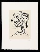 Etching And Aquatint Saura - Frauen portrait mit Hut 4