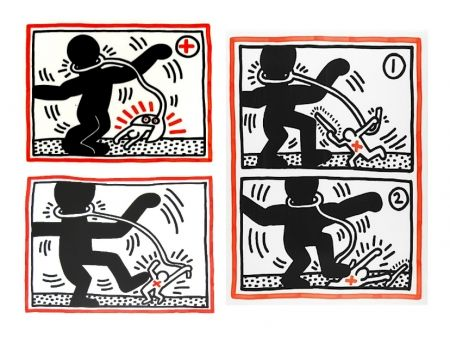 Screenprint Haring - Free South Africa Series, set of 3