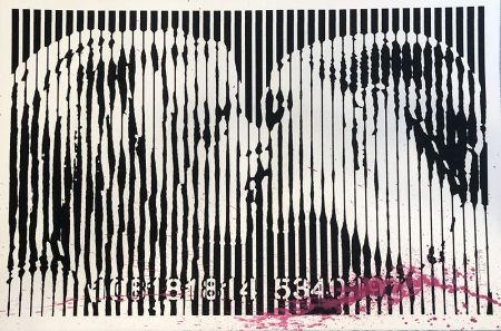 Screenprint Mr. Brainwash - Freedom Kiss (Pink Splash)
