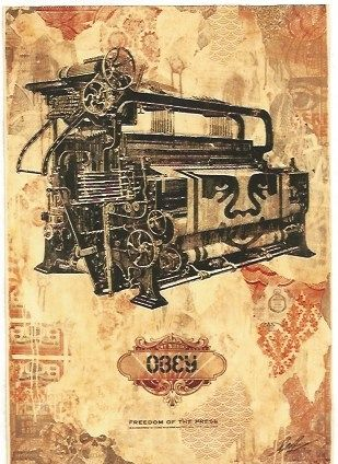 Etching Fairey - Freedom of the press