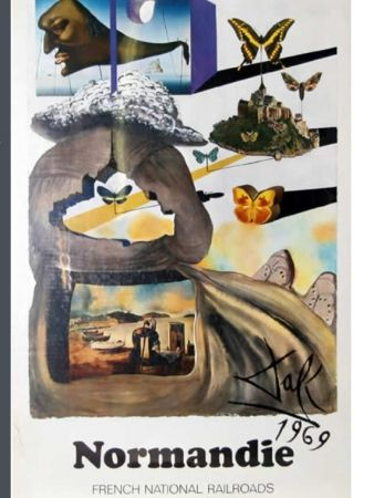 Poster Dali - FRENCH RAILWAYS NORMANDIE