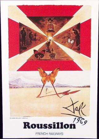 Poster Dali - FRENCH RAILWAYS  ROUSSILLON